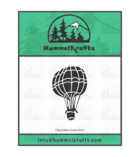 Paper Parachute HummelKrafts Cling Rubber Stamps-Hot Air Balloon