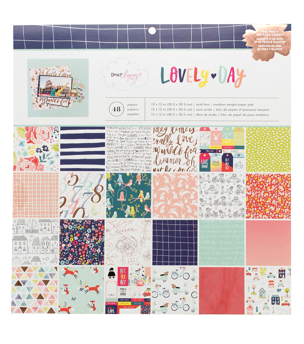 American Crafts™ Dear Lizzy Lovely Day 12''x12'' Paper Pad