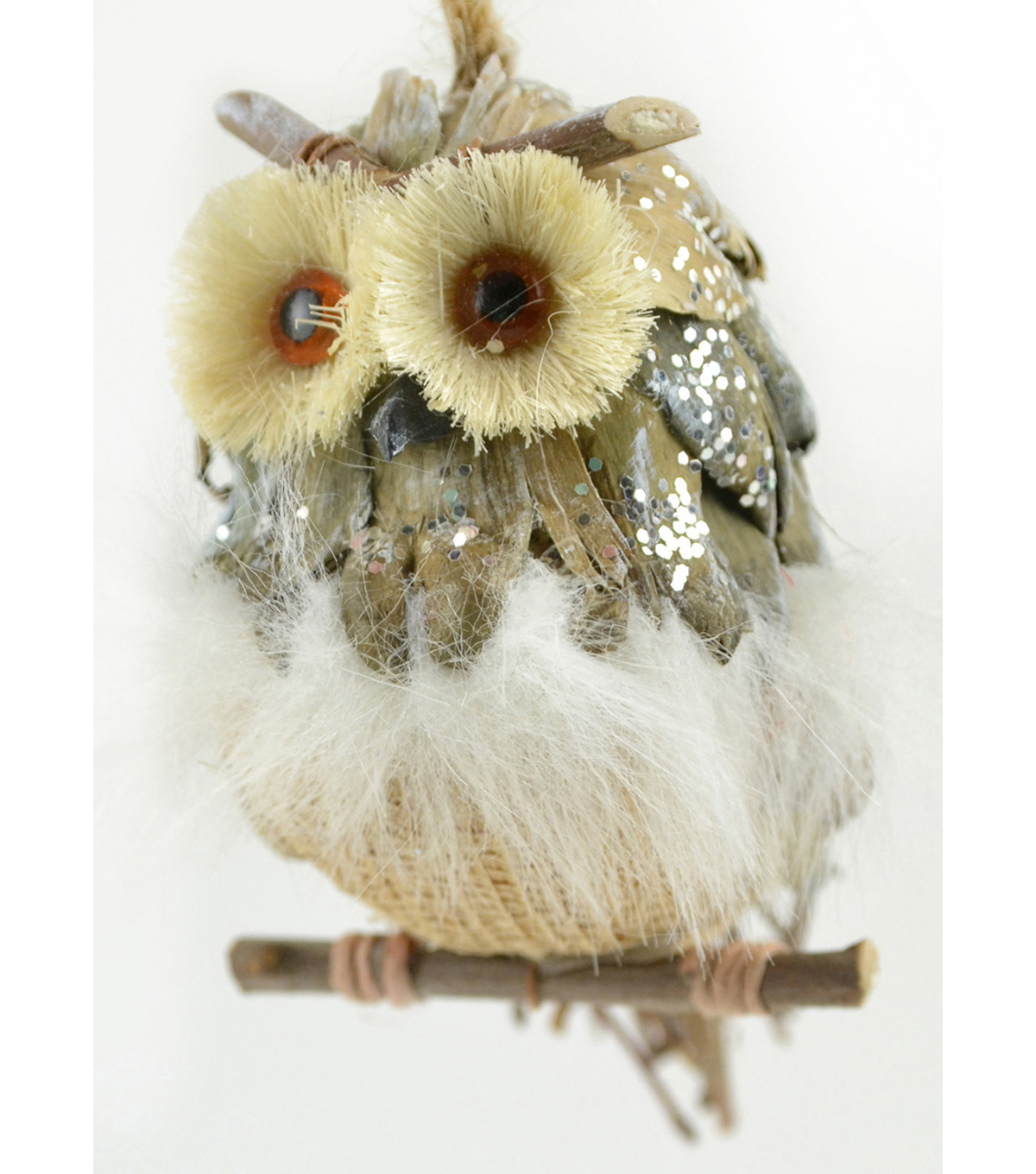 Maker\u0027s Holiday Owl on Twig Ornament