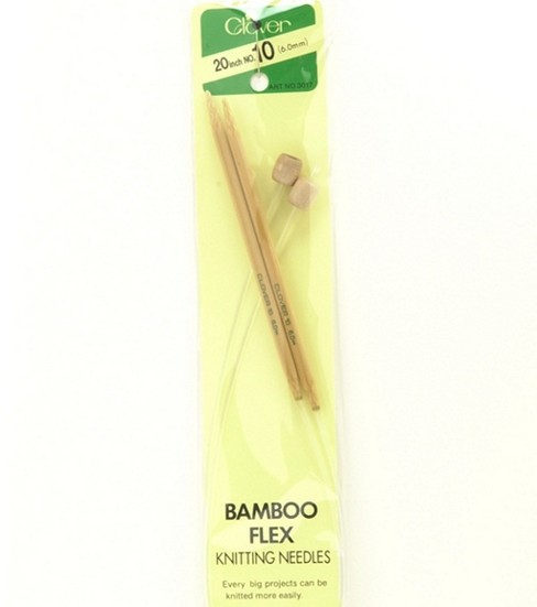 Clover Bamboo Flexible Knitting Needles 20-Size 10