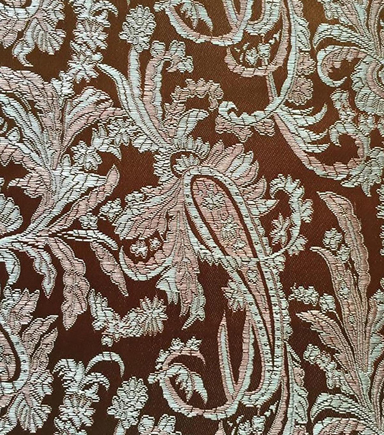 Brocade Fabric-Paisley Gold Blush