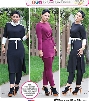 Simplicity Patterns Us1019Y5-Simplicity Misses Knit Tunic/Pintuck Pants From Mimi G Style-18-20-22-24-26