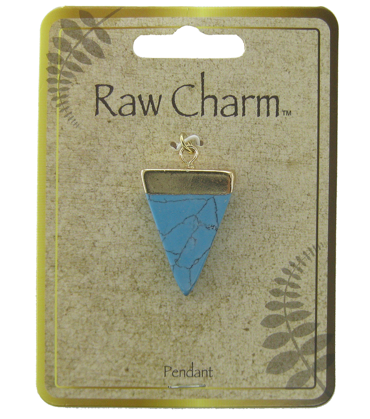 Naturals Raw Charm Turquoise Triangle Pendant