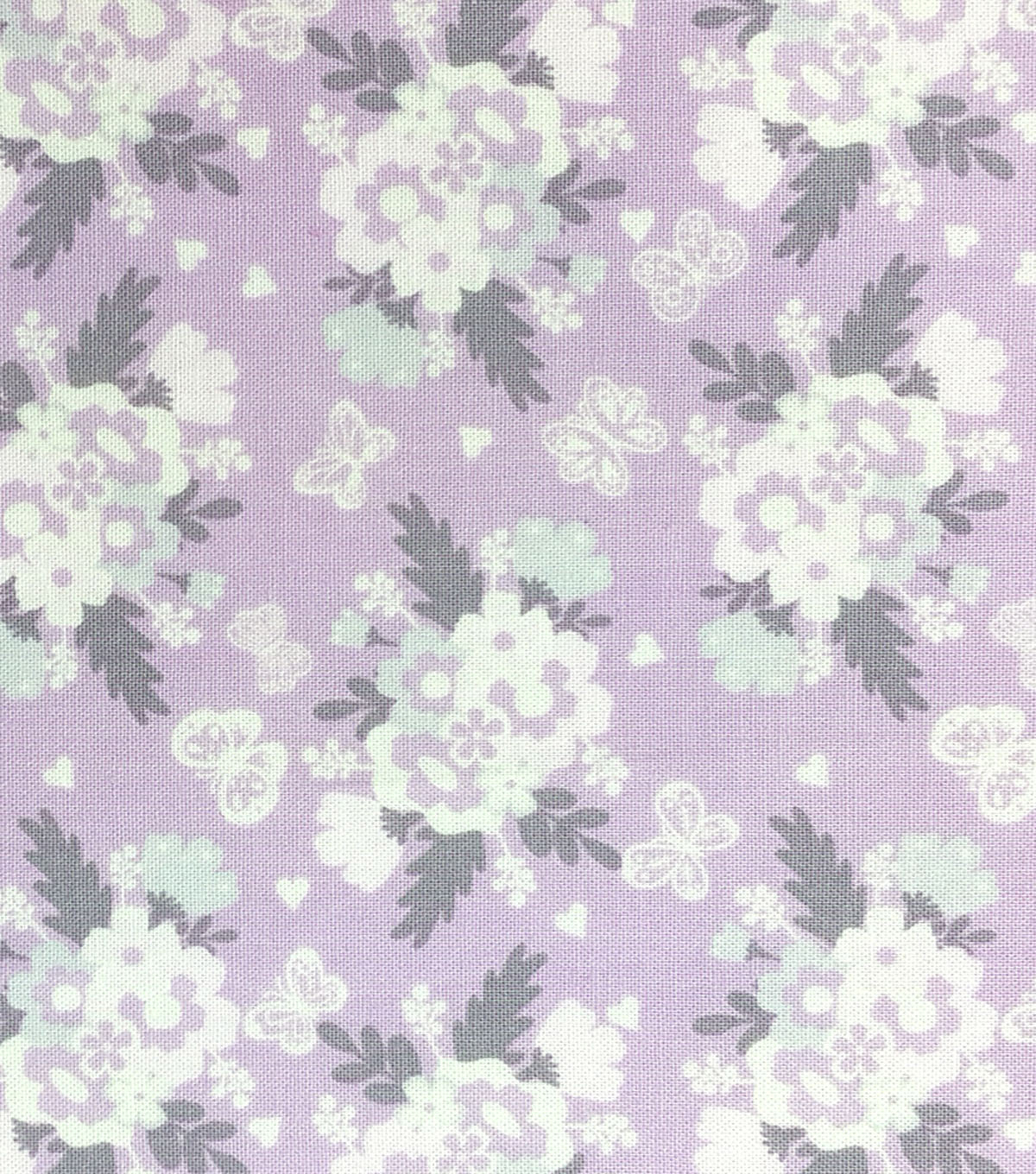 "Nursery Cotton Fabric 43""-Butterfly Garden Bunches"