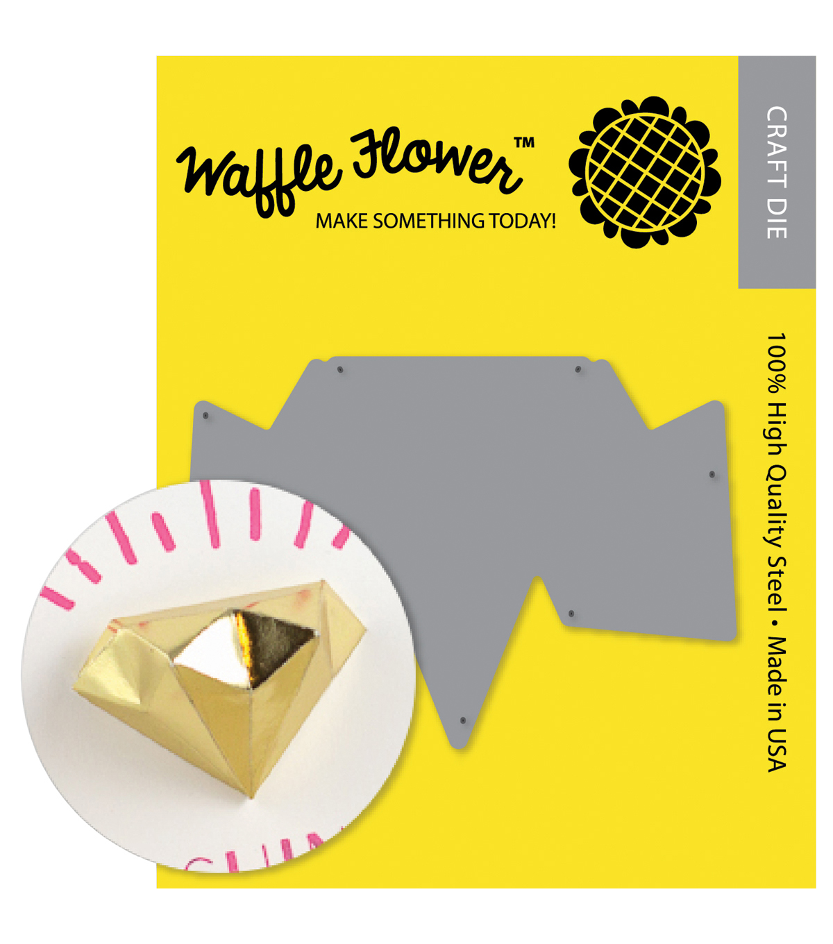 Waffle Flower Crafts Die-3D Diamond Template