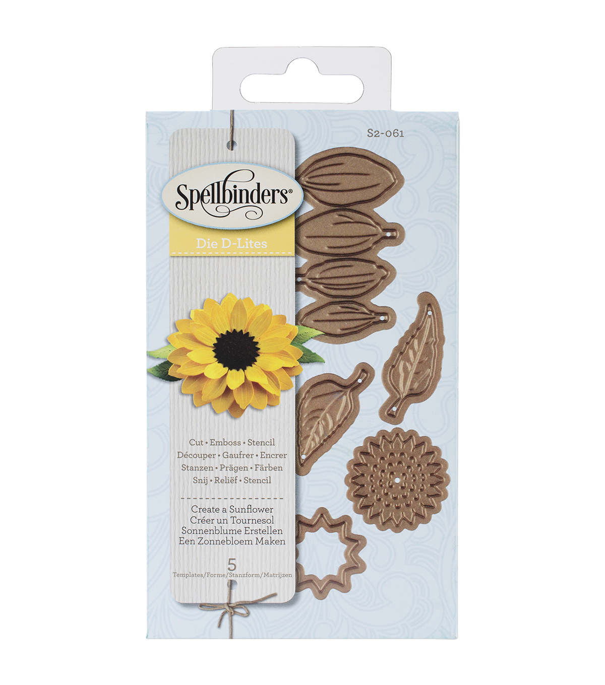 Spellbinders Shapeabilities Die D-Lites-Create A Sunflower