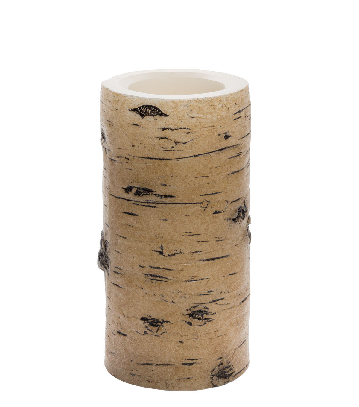 Hudson 43™ Candle & Light Collection 3X6 Tan Birch Bark Pillars With 5 Hour Timer