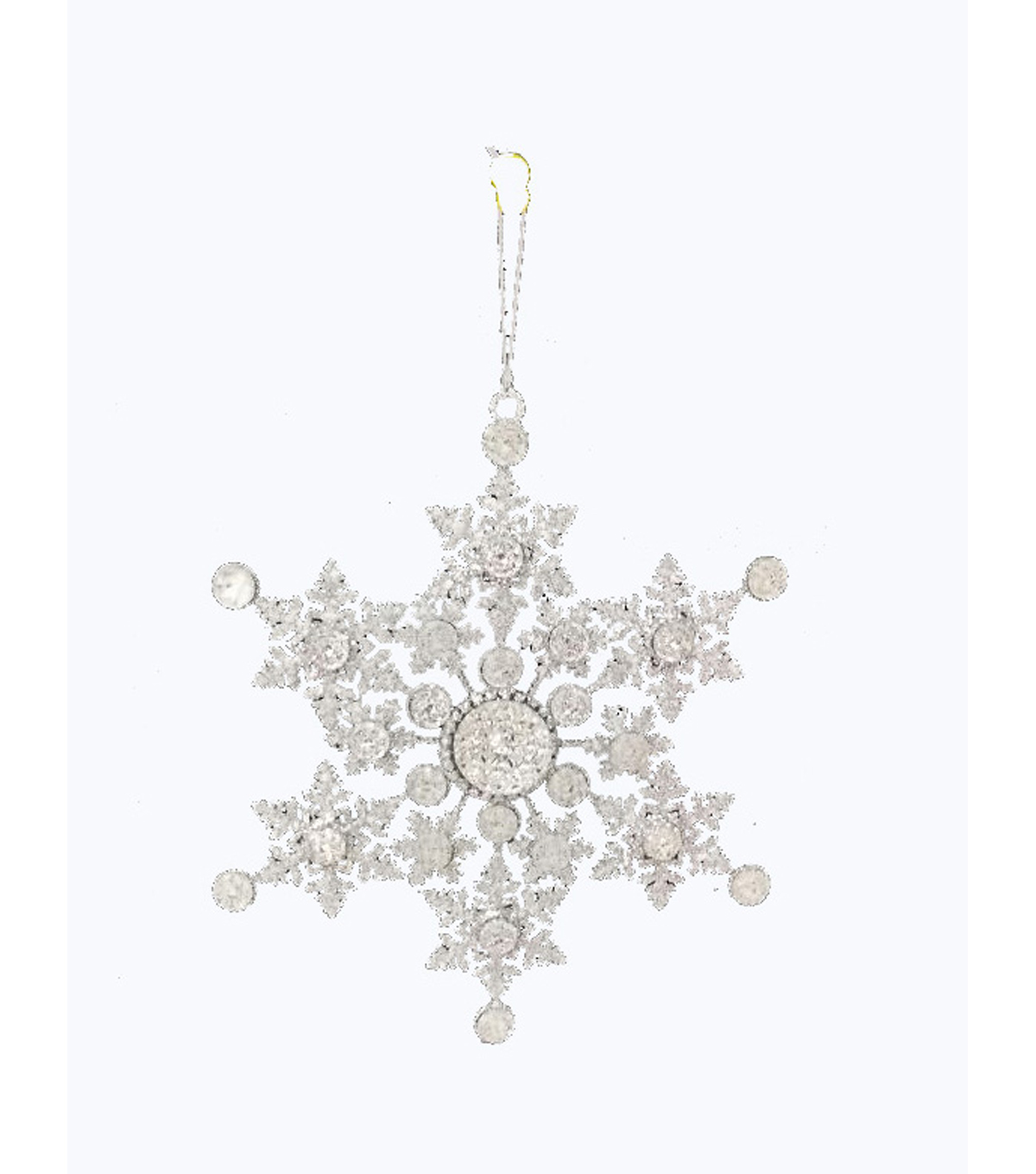 Maker\u0027s Holiday Christmas Arctic Frost Snowflake Ornament