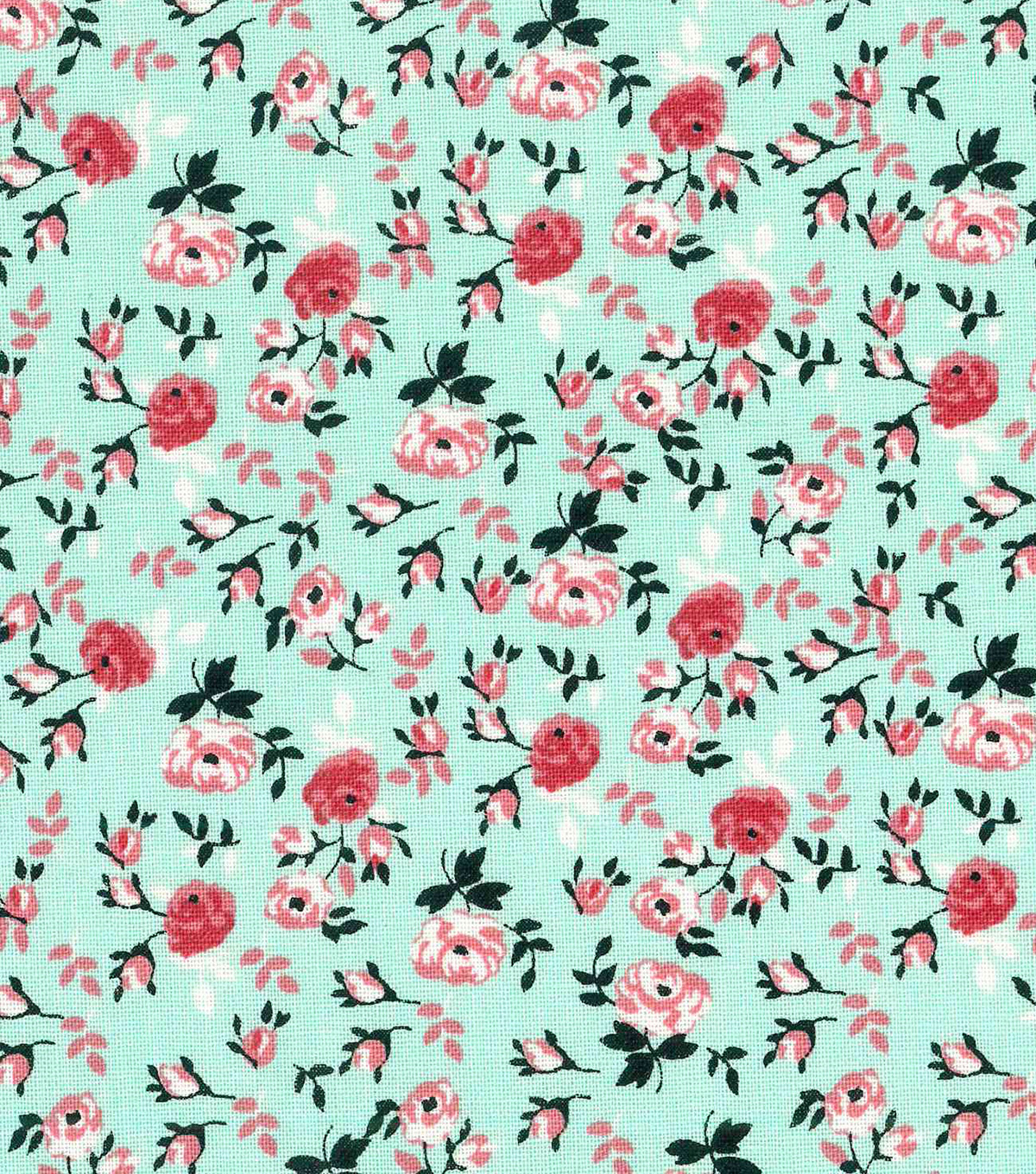 Keepsake Calico™ Cotton Fabric 43\u0022-Packed Floral Mint