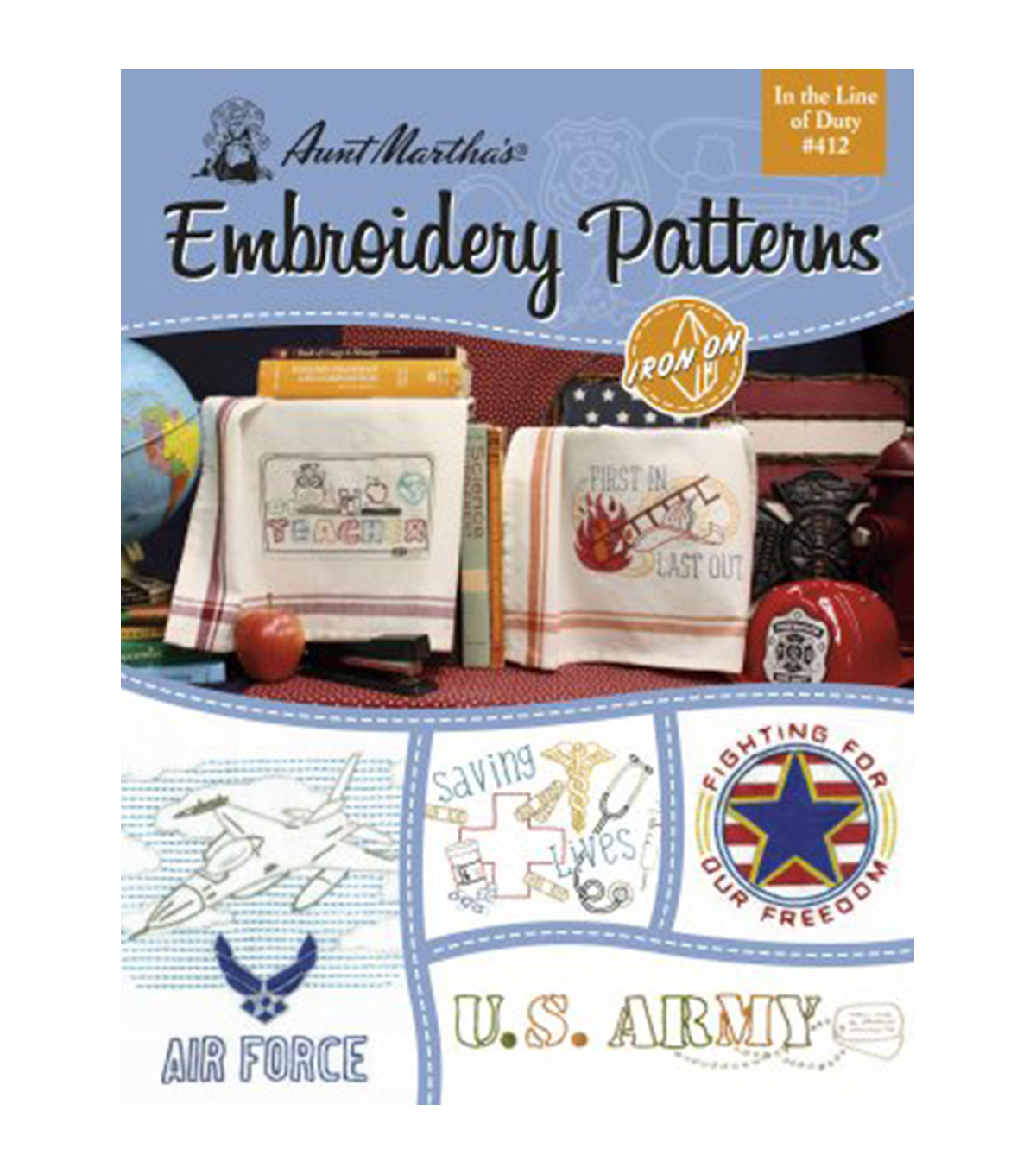 Aunt Martha's® In The Line Of Duty Embroidery Patterns Book