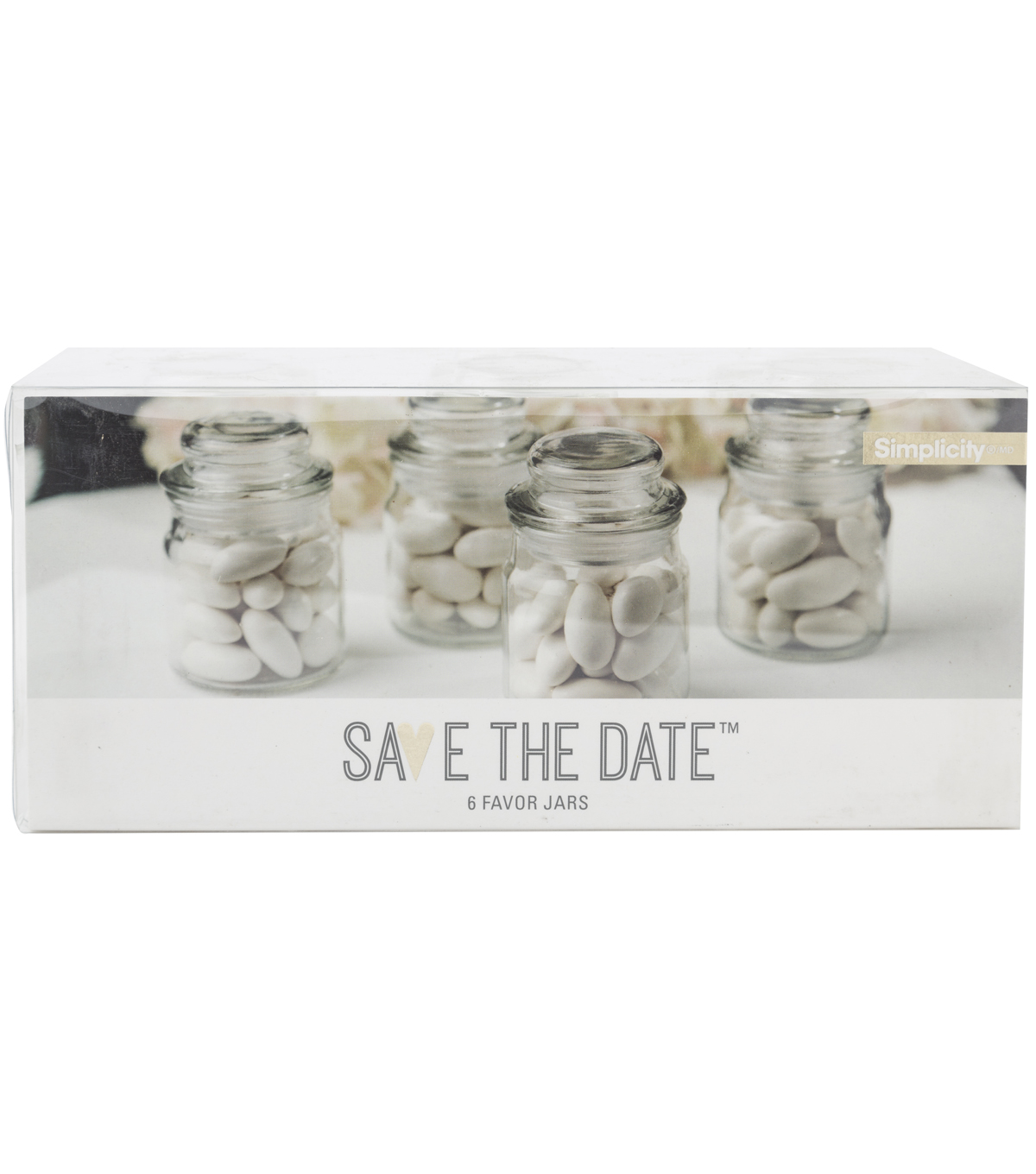 Save The Date™ Mini Cookie Jars-Set of 6