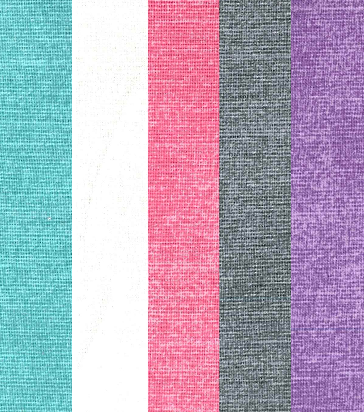 Fat Quarter Bundle Cotton Fabric 5-Pieces 18\u0027\u0027-Crosshatch Blenders