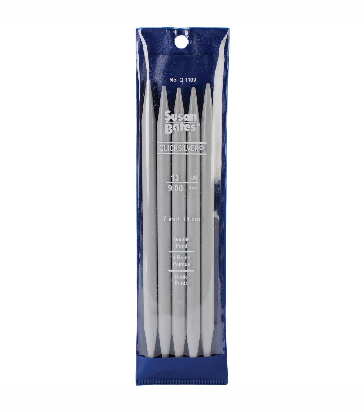 Quicksilver Double Point Knitting Needles 7\u0022 5/Pkg-Size 13/9mm