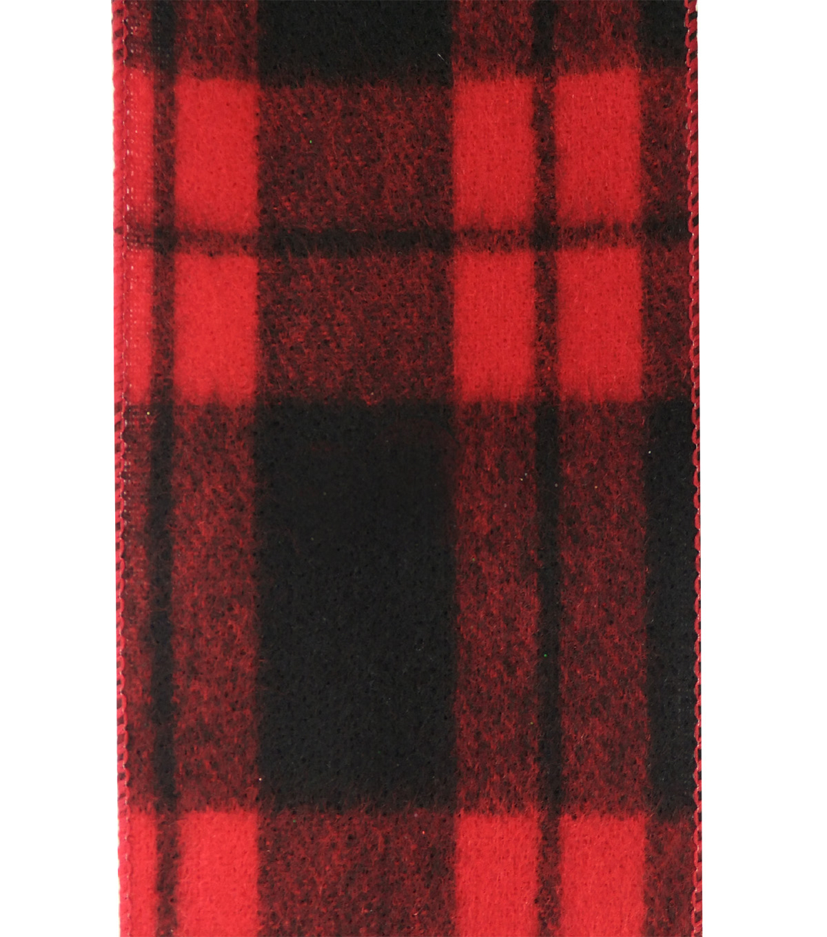 Maker\u0027s Holiday Christmas Ribbon 4\u0027\u0027x40\u0027-Black & Red Plaid