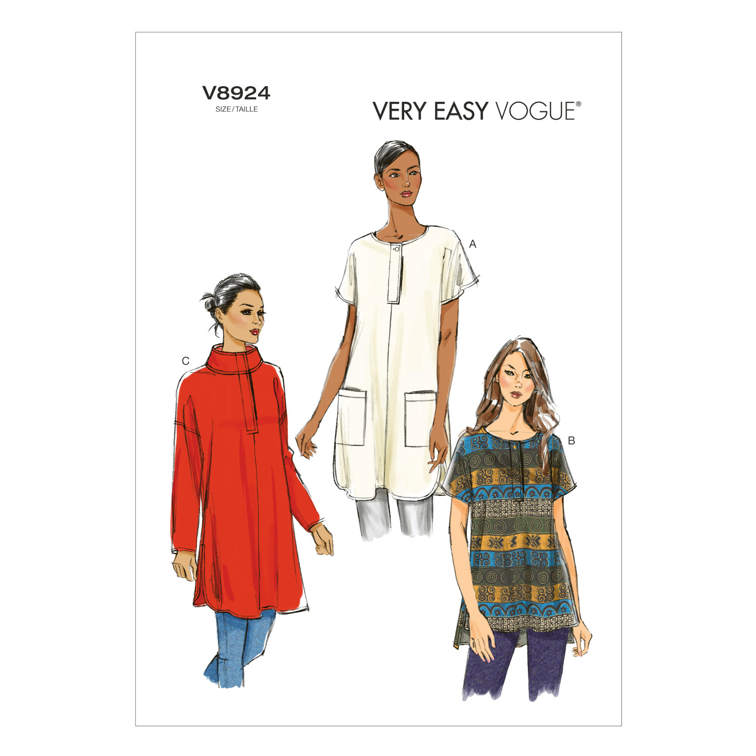 Vogue Patterns Misses Top-V8924