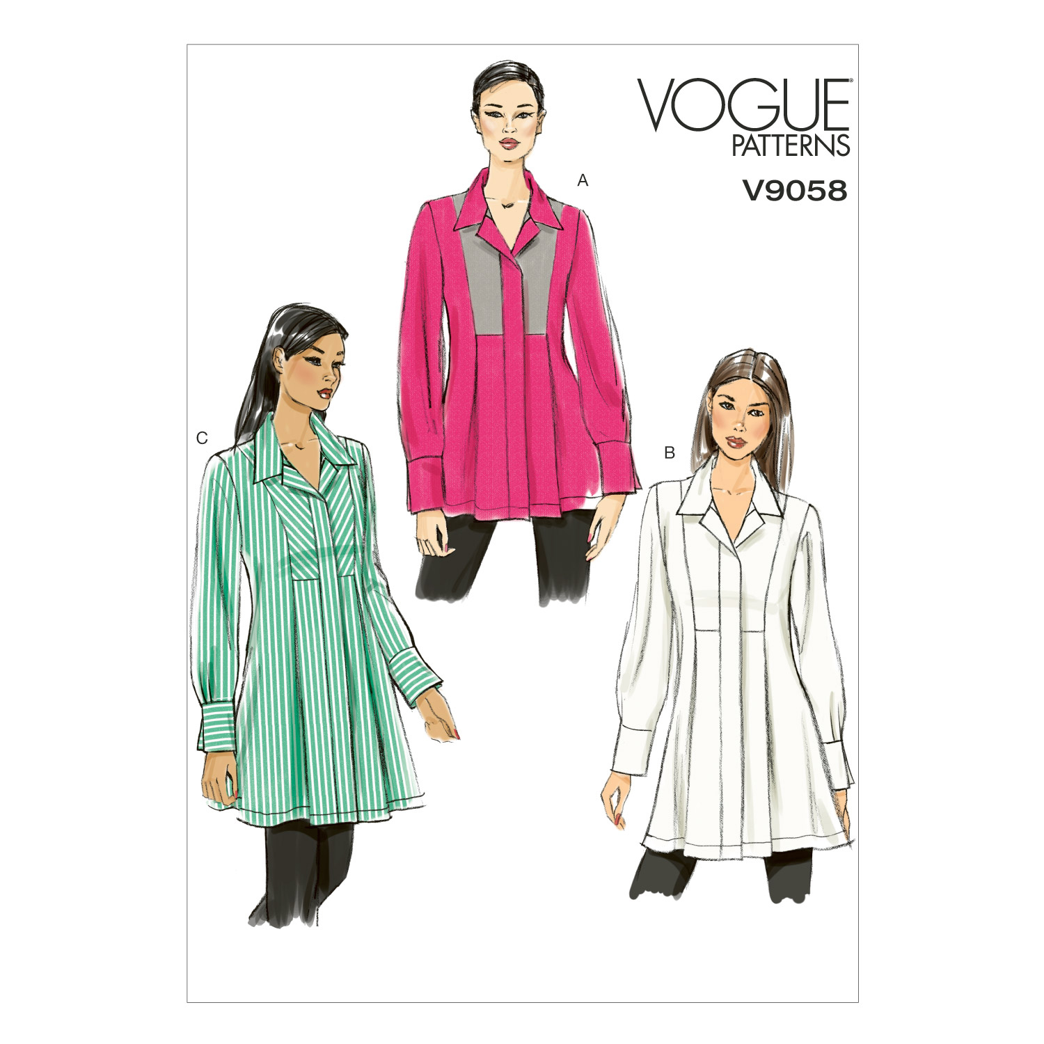 Vogue Patterns Misses Top-V9058