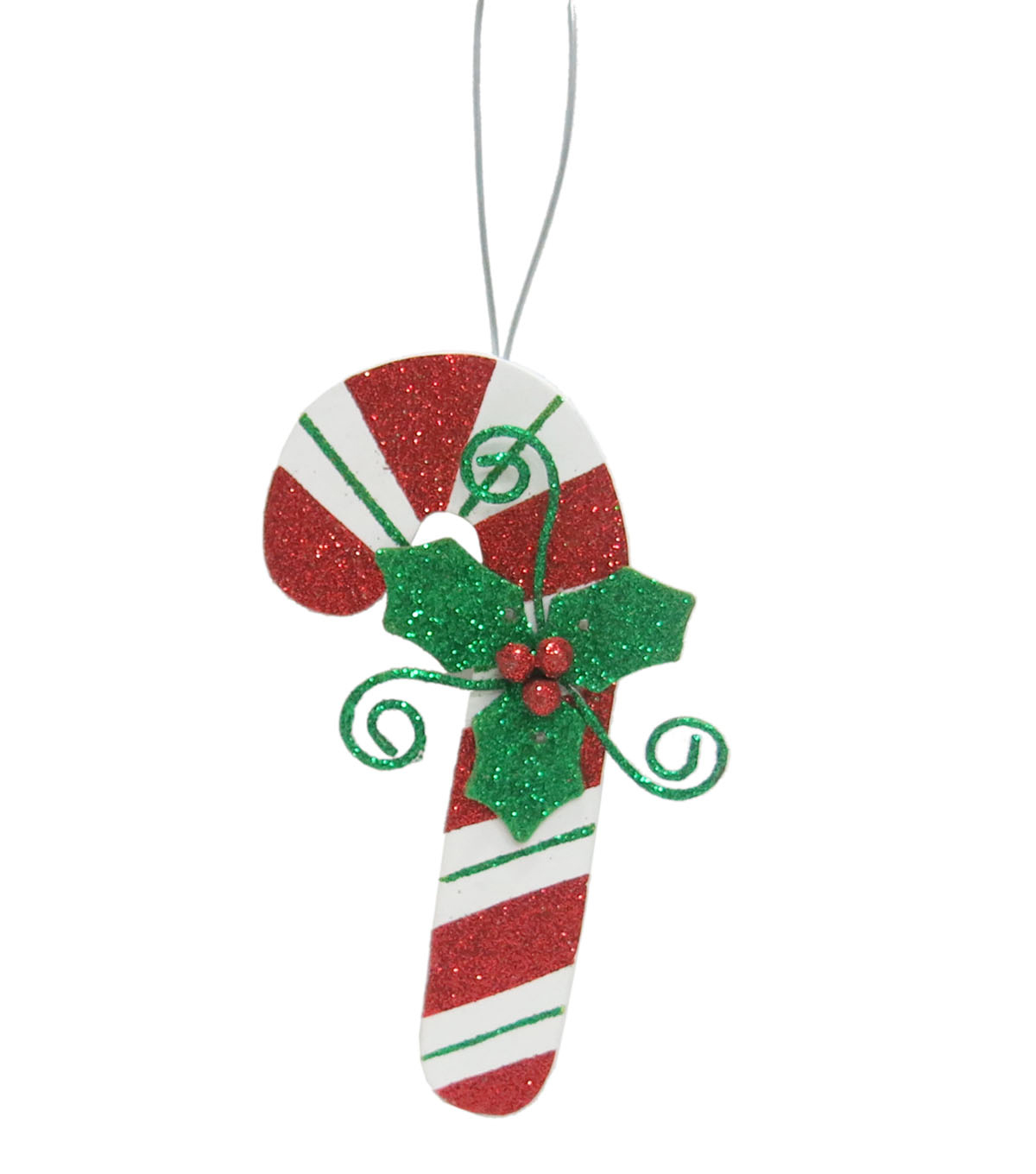 Maker\u0027s Holiday Christmas Whimsy Workshop Wooden Candy Cane Ornament