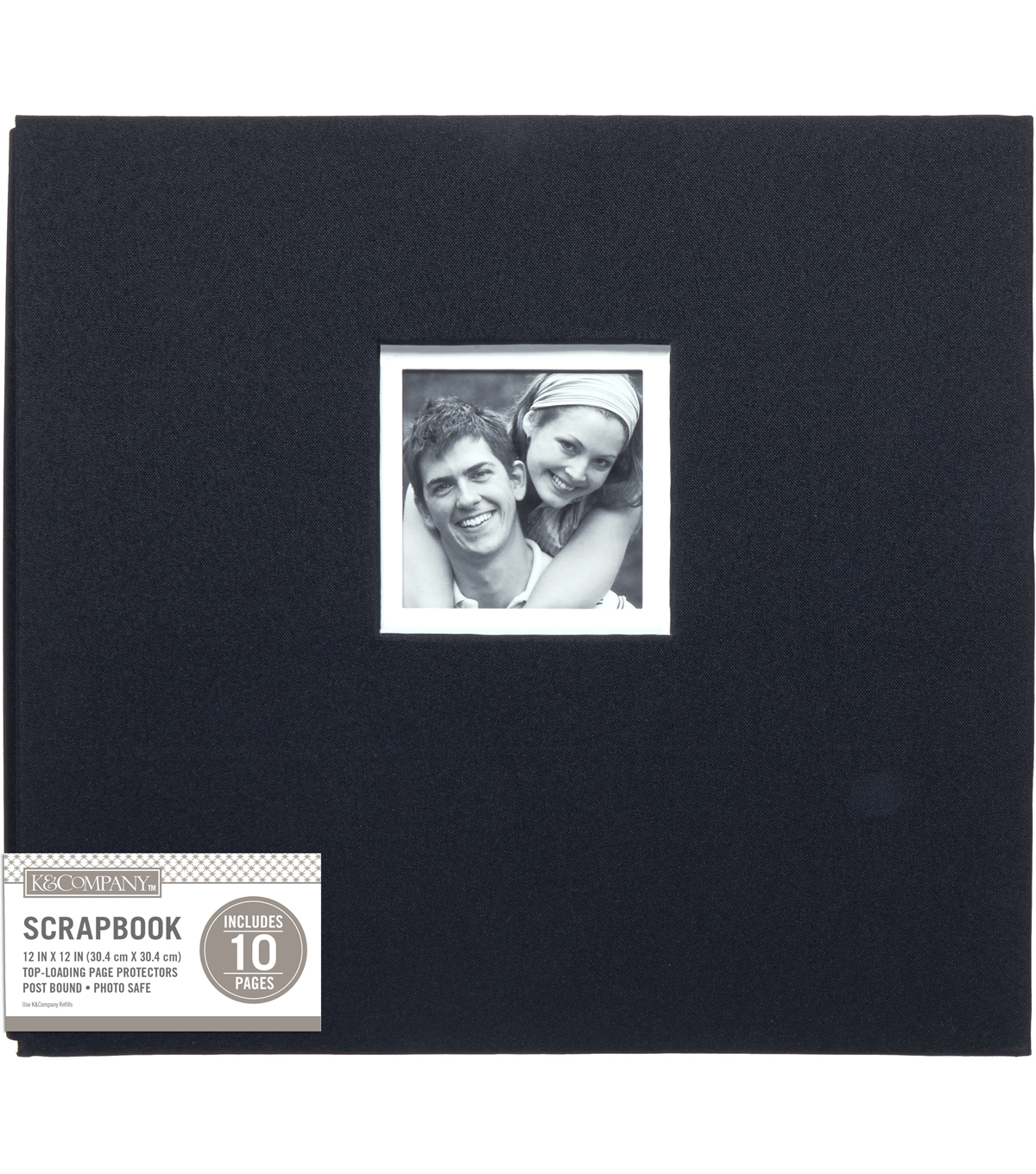 "K&Company Black Fabric 12""x12"" Window Scrapbook"