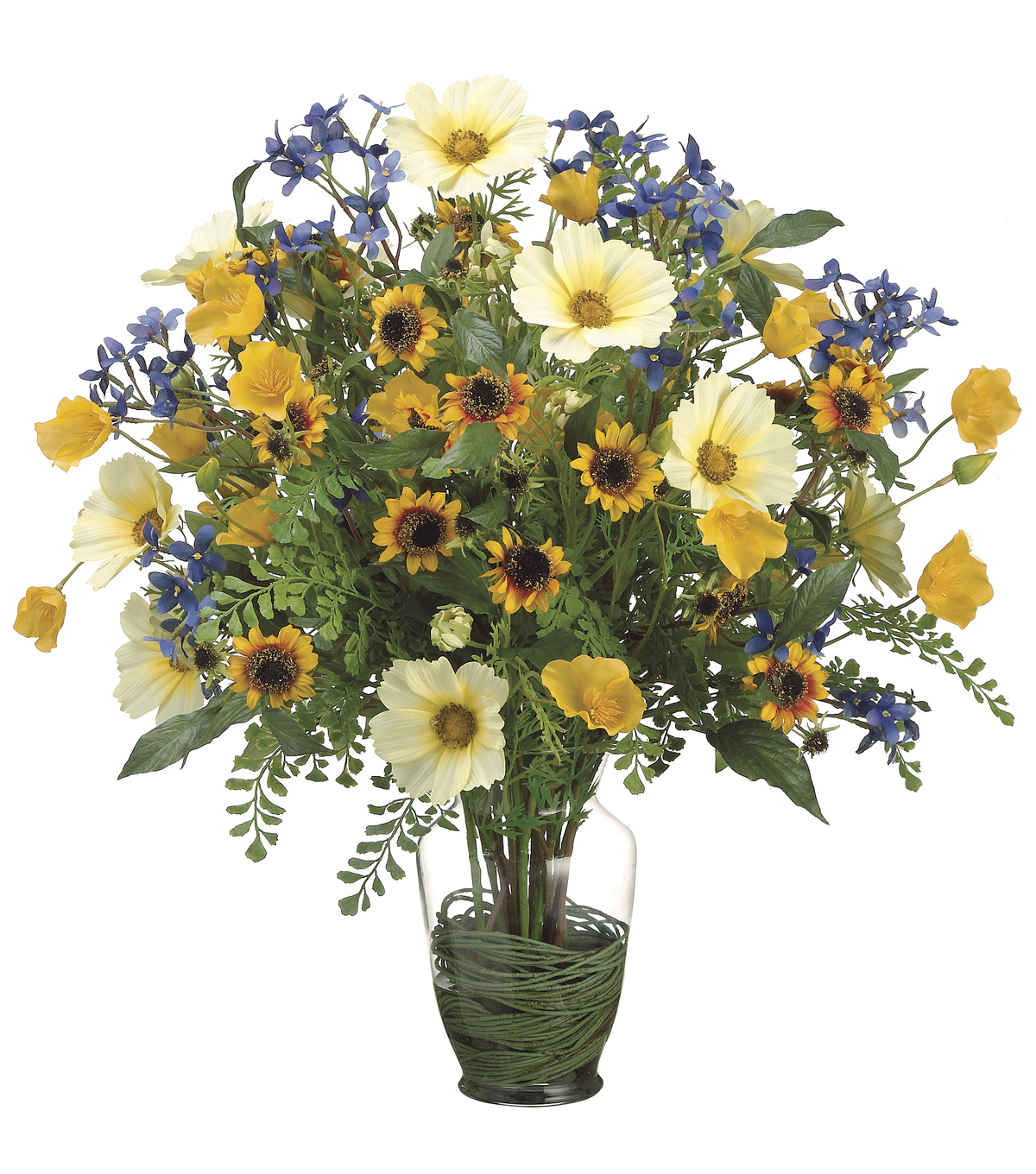 Bloom Room Luxe 23\u0027\u0027 Cosmos, Poppy, Sunflower & Fern-Yellow