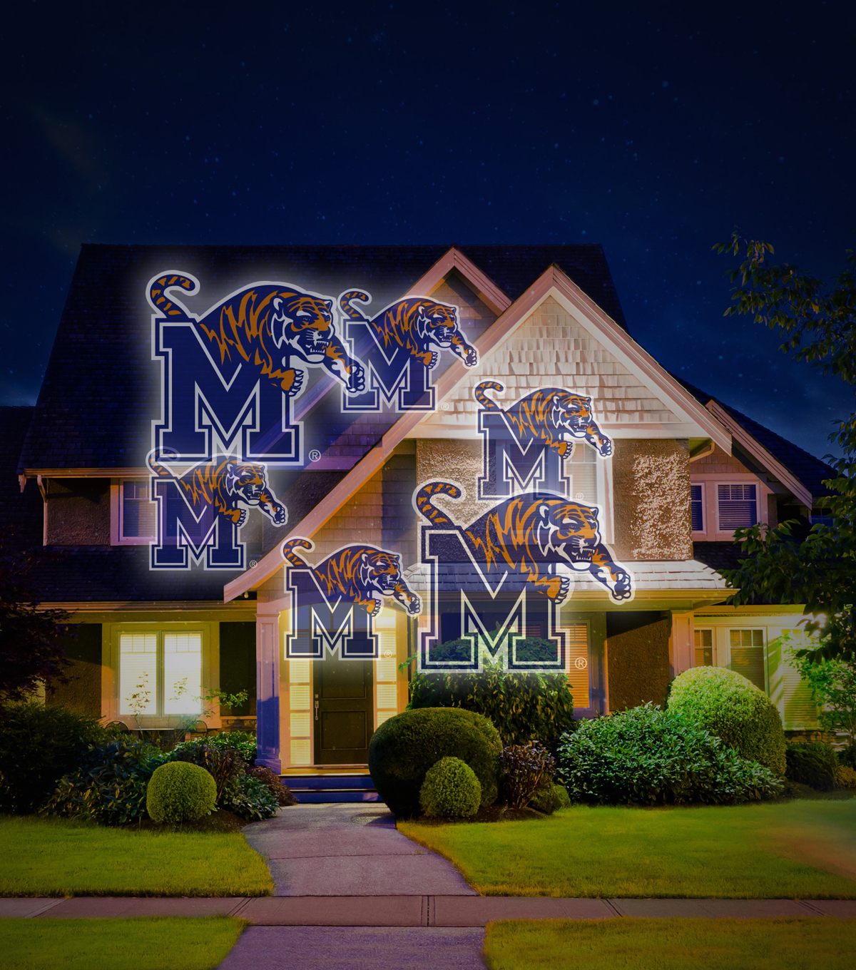 University of Memphis Team Pride Light Projector