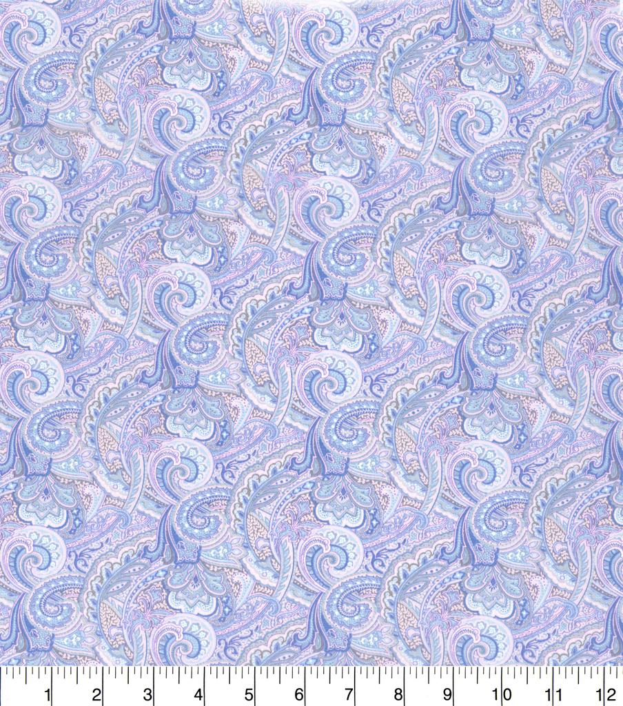 Made in America Cotton Fabric 44\u0022-Purple Paisley