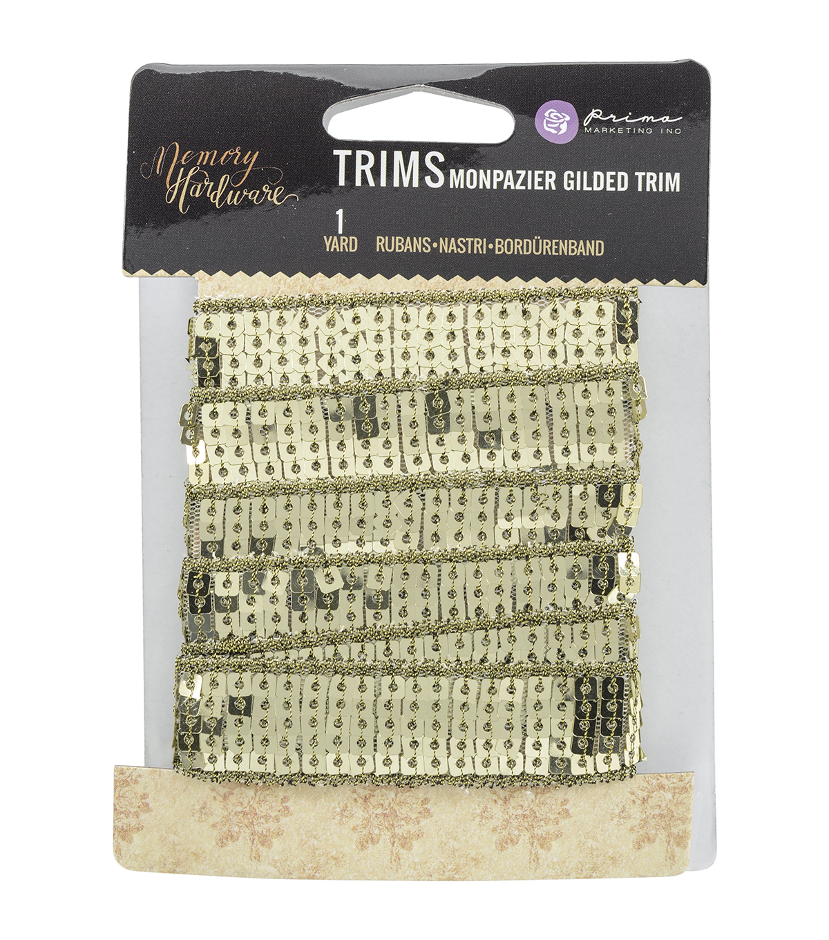 Prima Marketing Memory Hardware Gilded Trim 0.75''x1 yds-Monpazier
