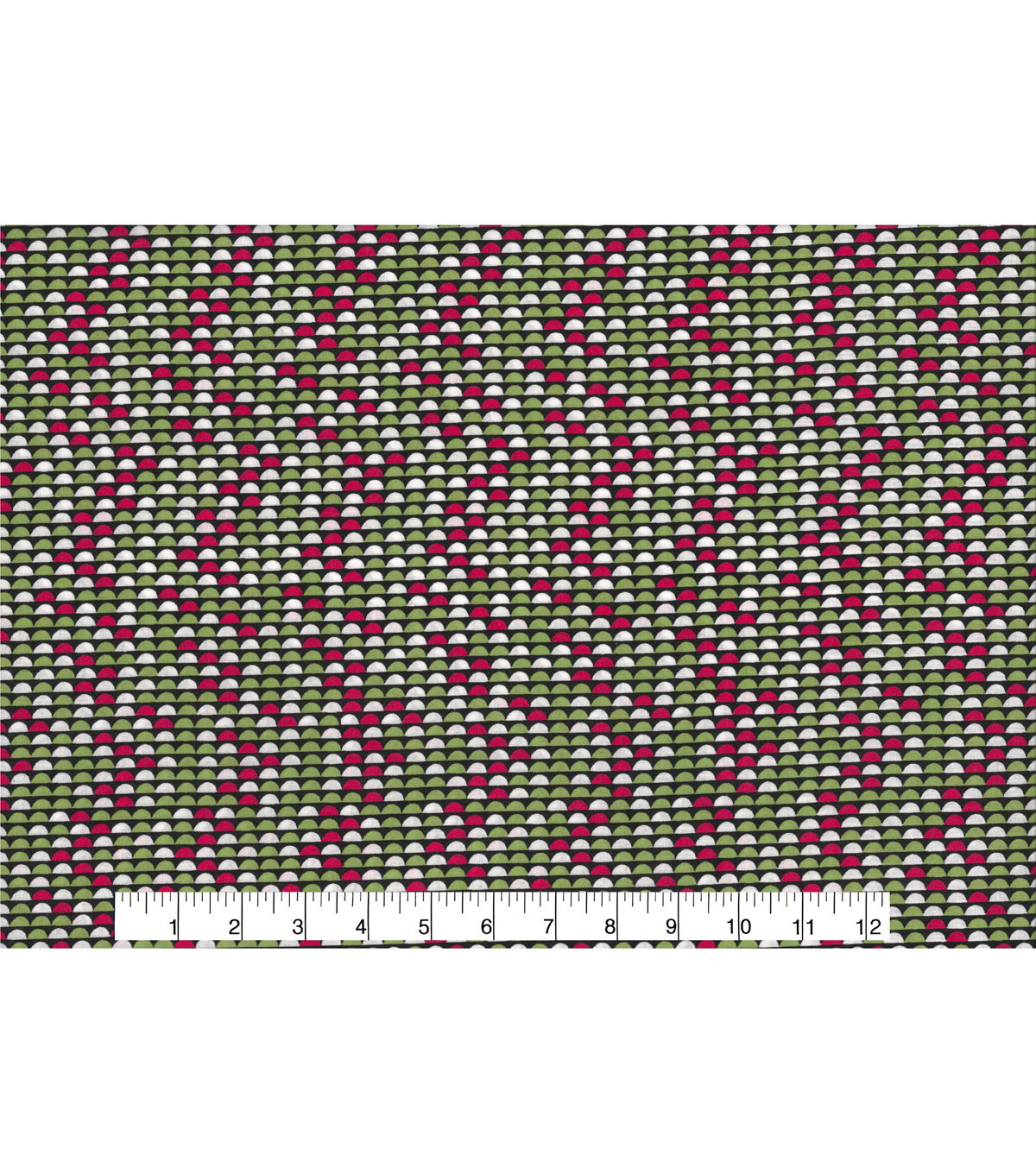 Quilter\u0027s Showcase™ Cotton Fabric 43\u0027\u0027-Raspberry & Green Half Circle
