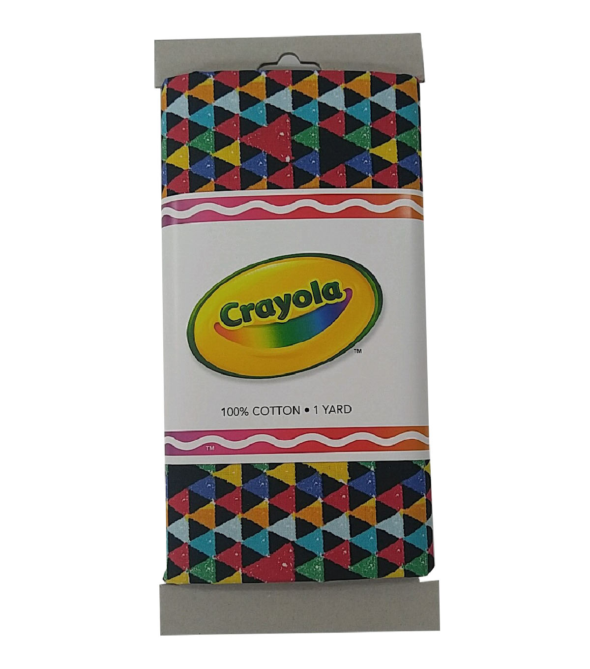 Crayola® Fabric 1yd Cut-Triangle Multi Black