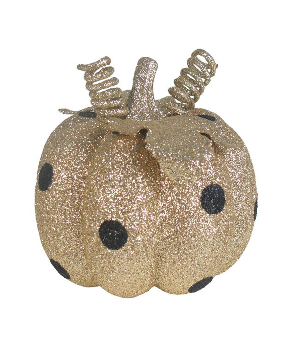 Pumpkin Boutique Halloween Extra Small Pumpkin-Black Dots on Gold