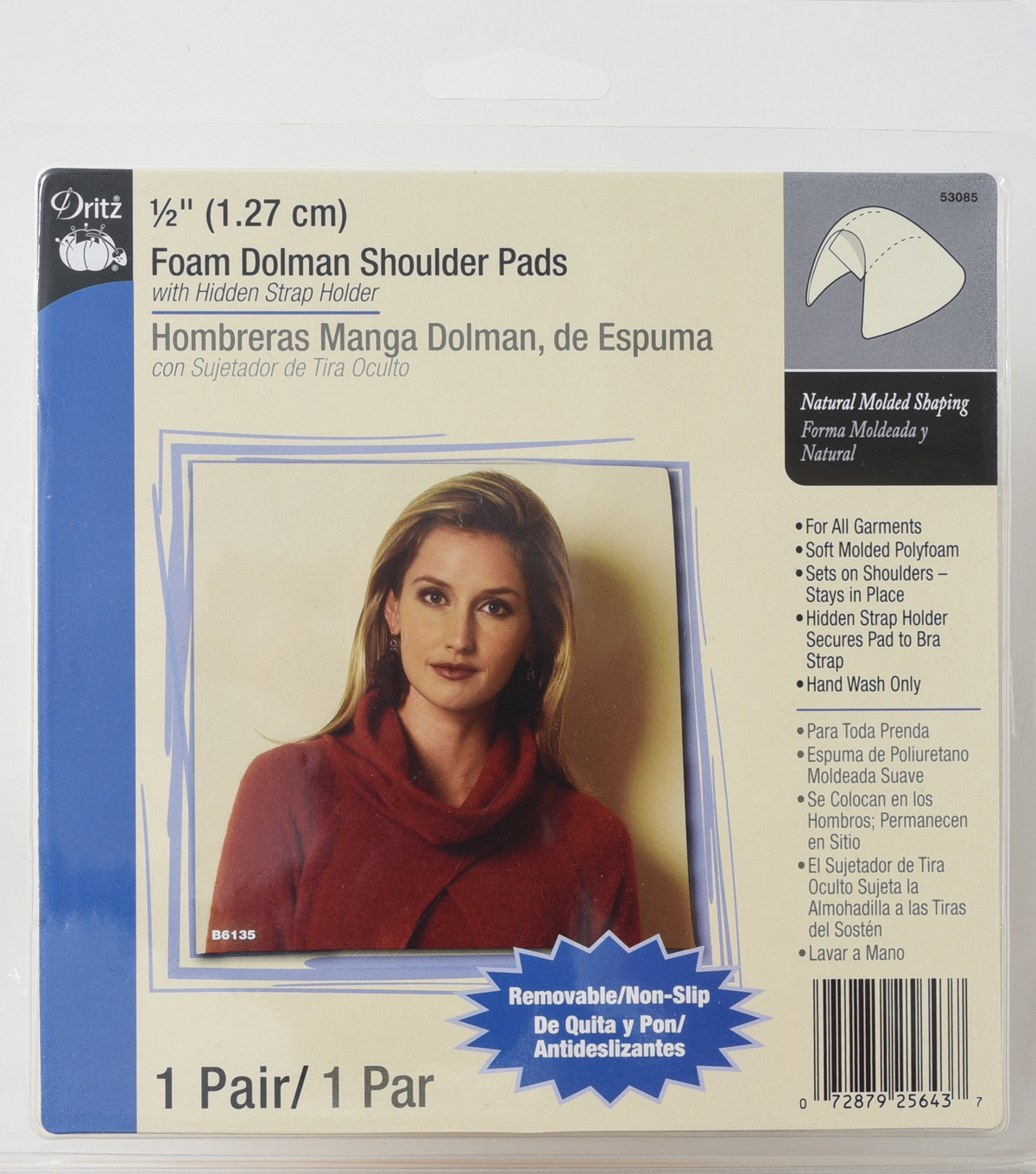 Dritz 1/2\u0022 Foam Dolman Shoulder Pads