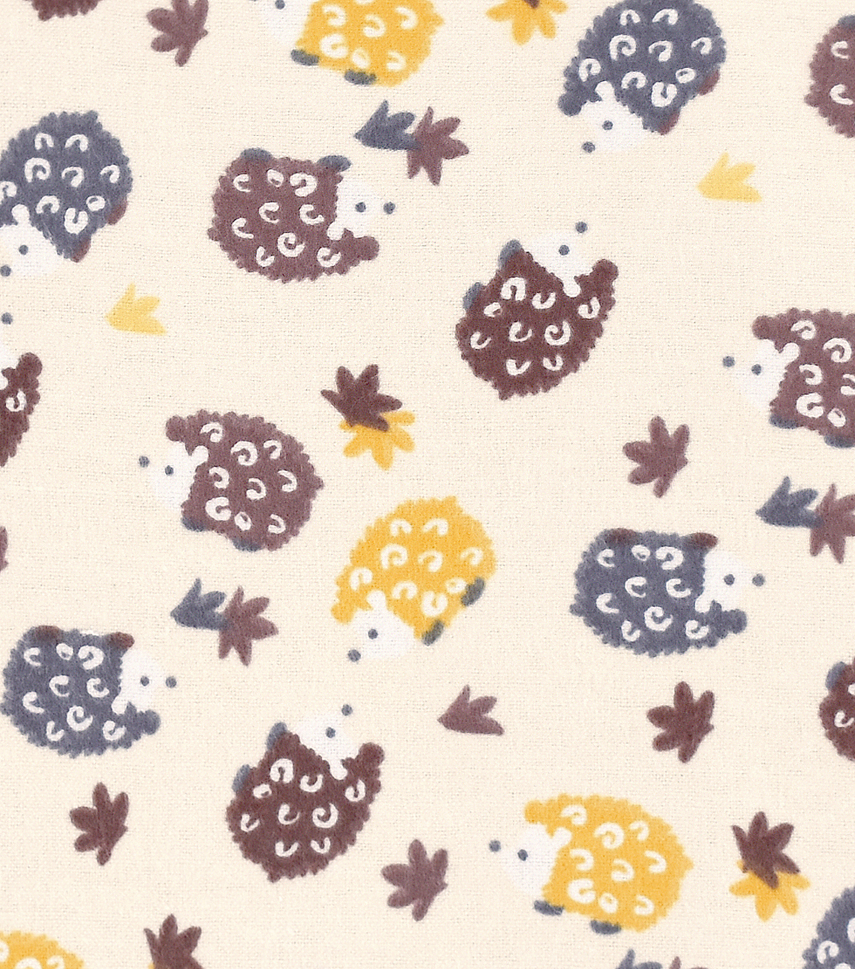Snuggle Flannel Fabric 42''-Hedgehogs On Cream