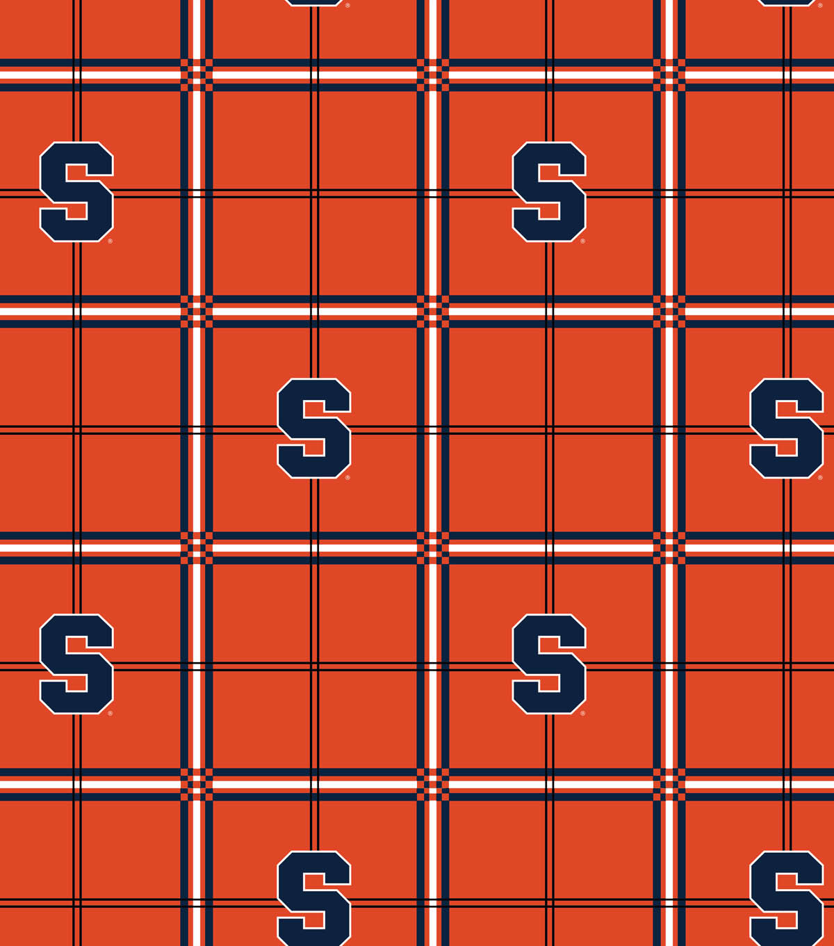 Syracuse University Orange Flannel Fabric 42\u0022-Plaid