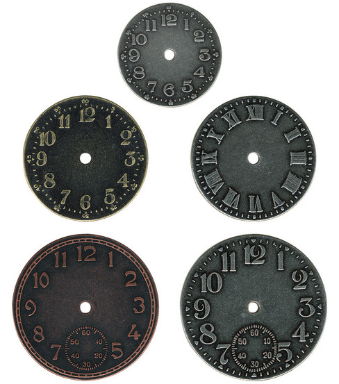 Tim Holtz Idea-Ology Timepieces Clock Faces