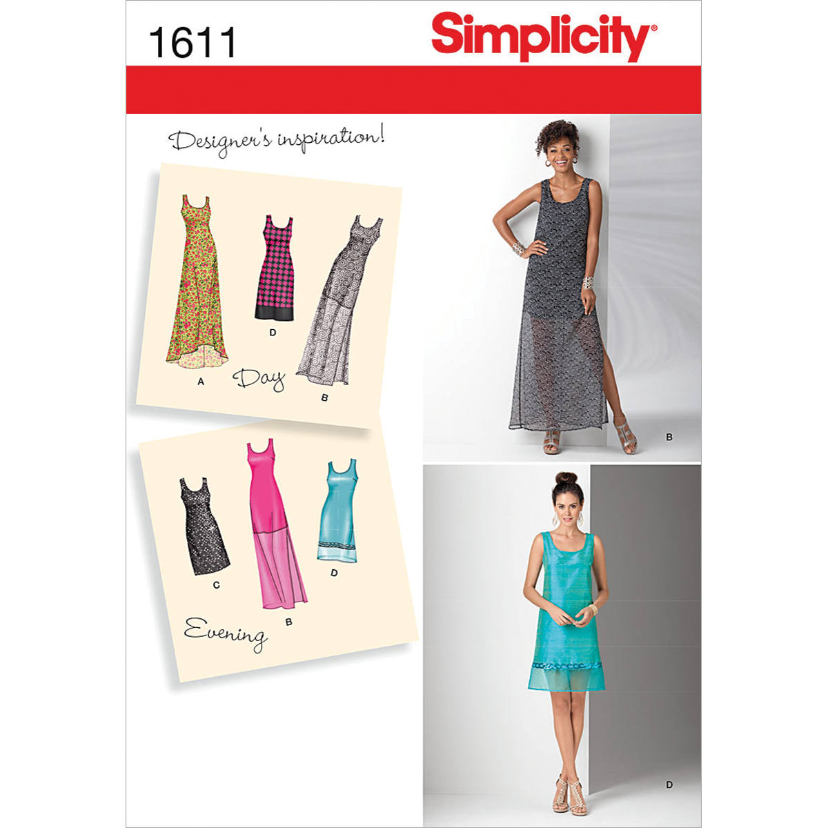 Simplicity Pattern 1611H5 6-8-10-12--Simplicity Misses Dr