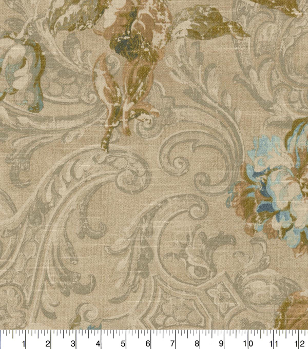 Waverly Upholstery Fabric 54\u0027\u0027-Lapis Fresco Flourish