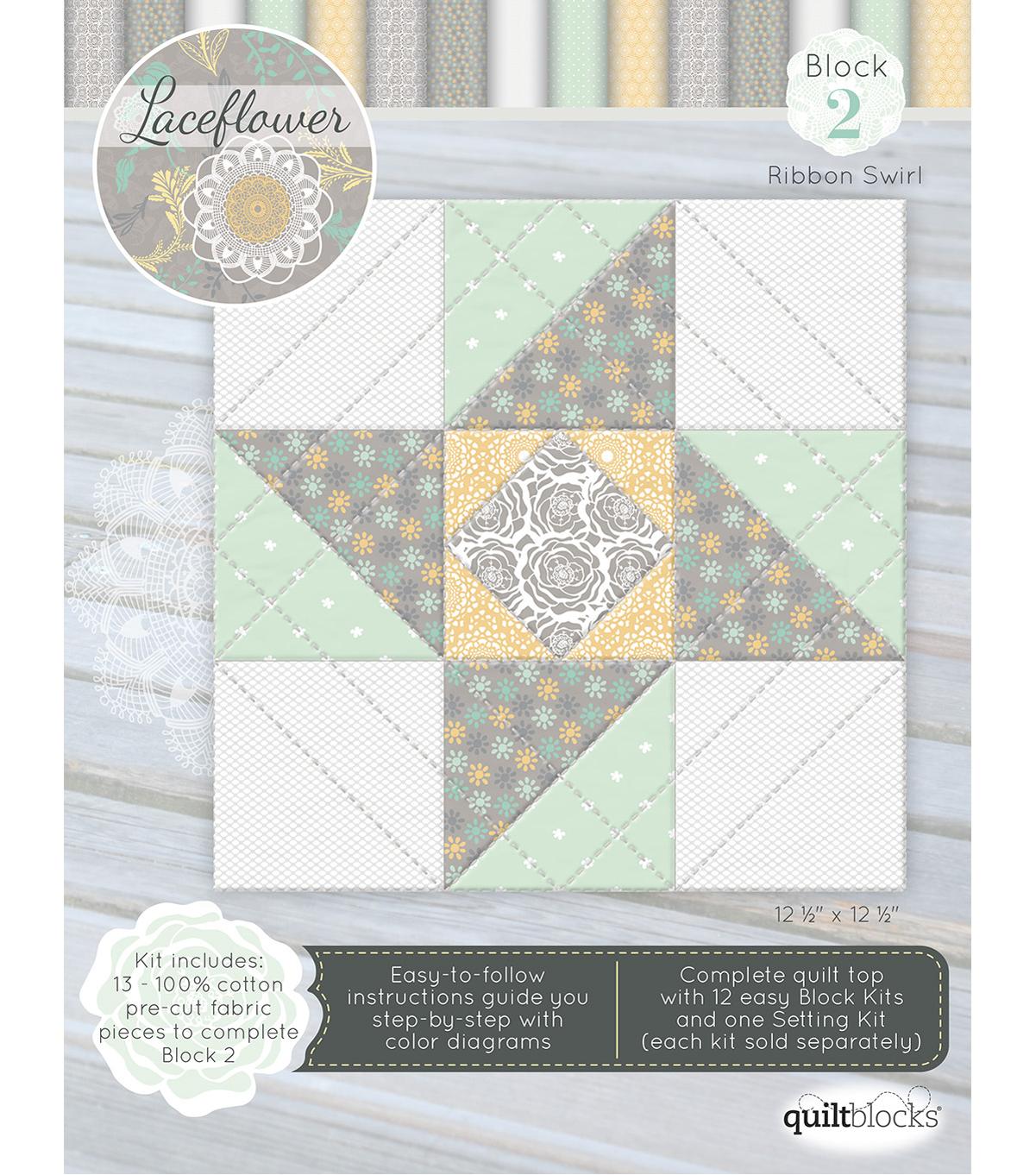 Qbom Laceflower Block 2 | JOANN : joann fabrics quilt kits - Adamdwight.com