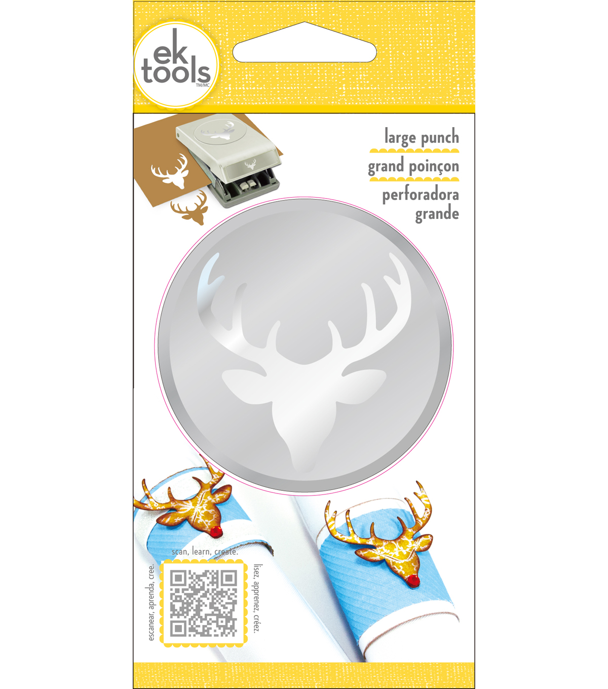 EK Tools® Christmas Large Punch-Deer Head