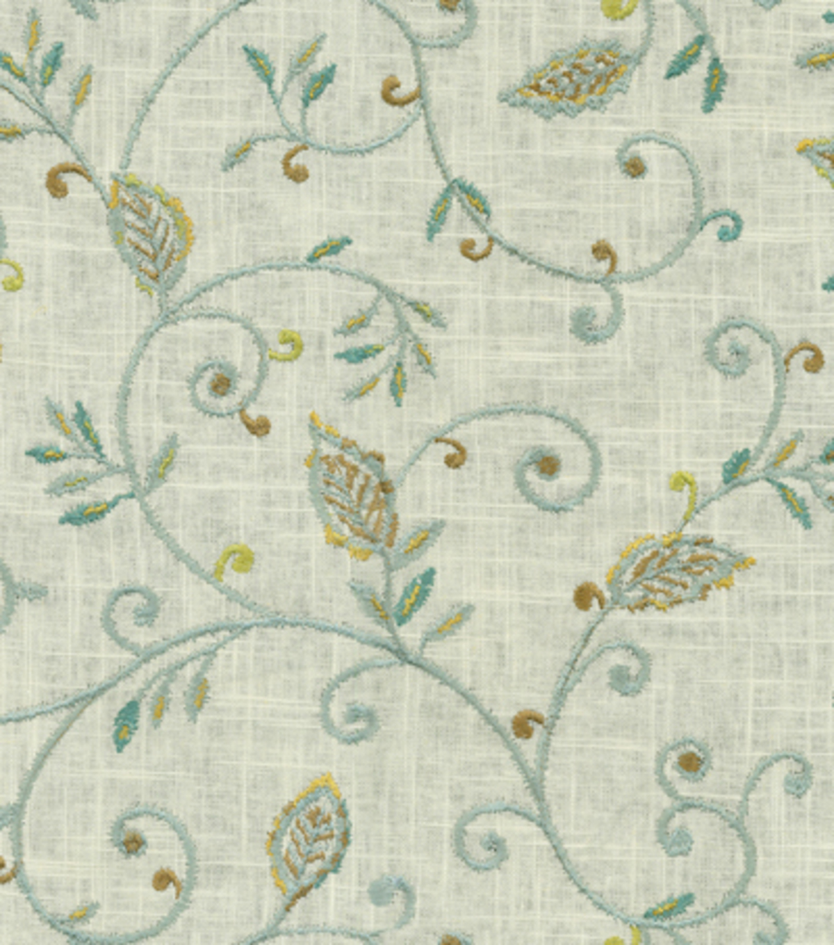 Dena Home Upholstery Fabric 53\u0022-Kalia Embroidery/Green Tea