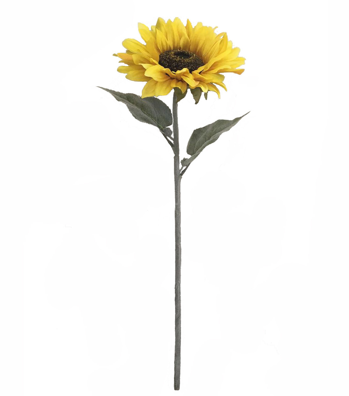 Blooming Autumn 29'' Sunflower Flocked Stem-Yellow