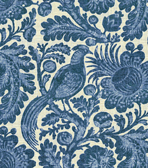 Waverly Lightweight Decor Fabric-Tucker Resist Indigo