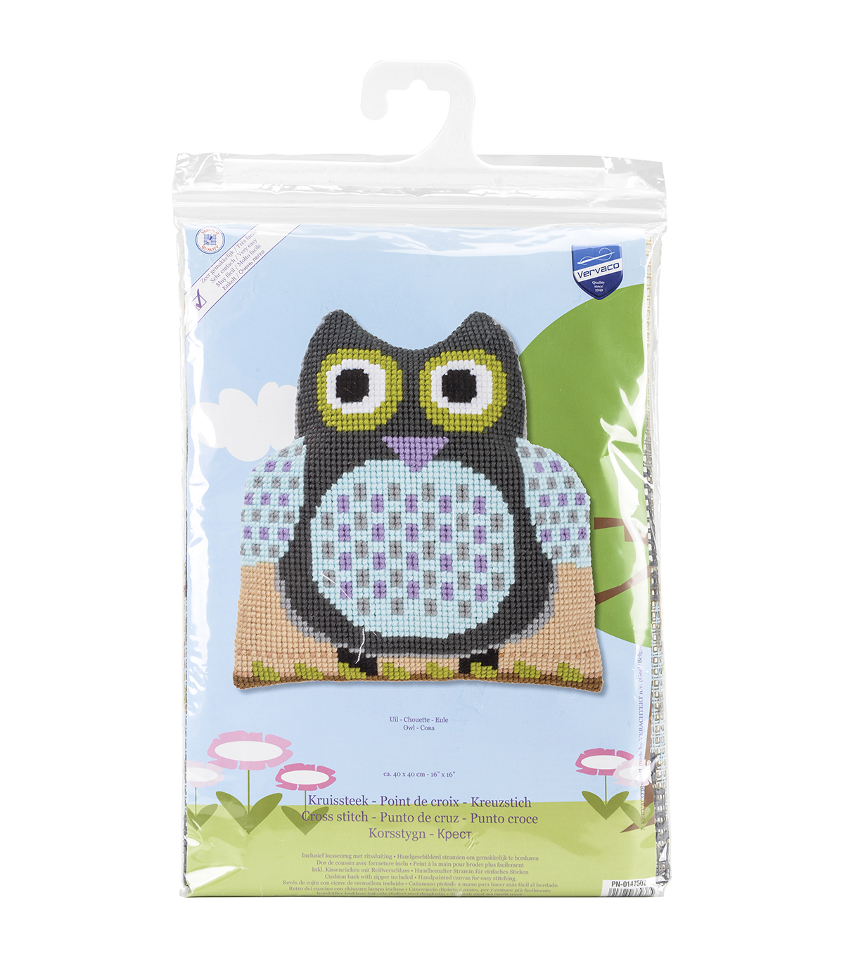 Vervaco Cushion Cross Stitch Kit-Owl Shaped