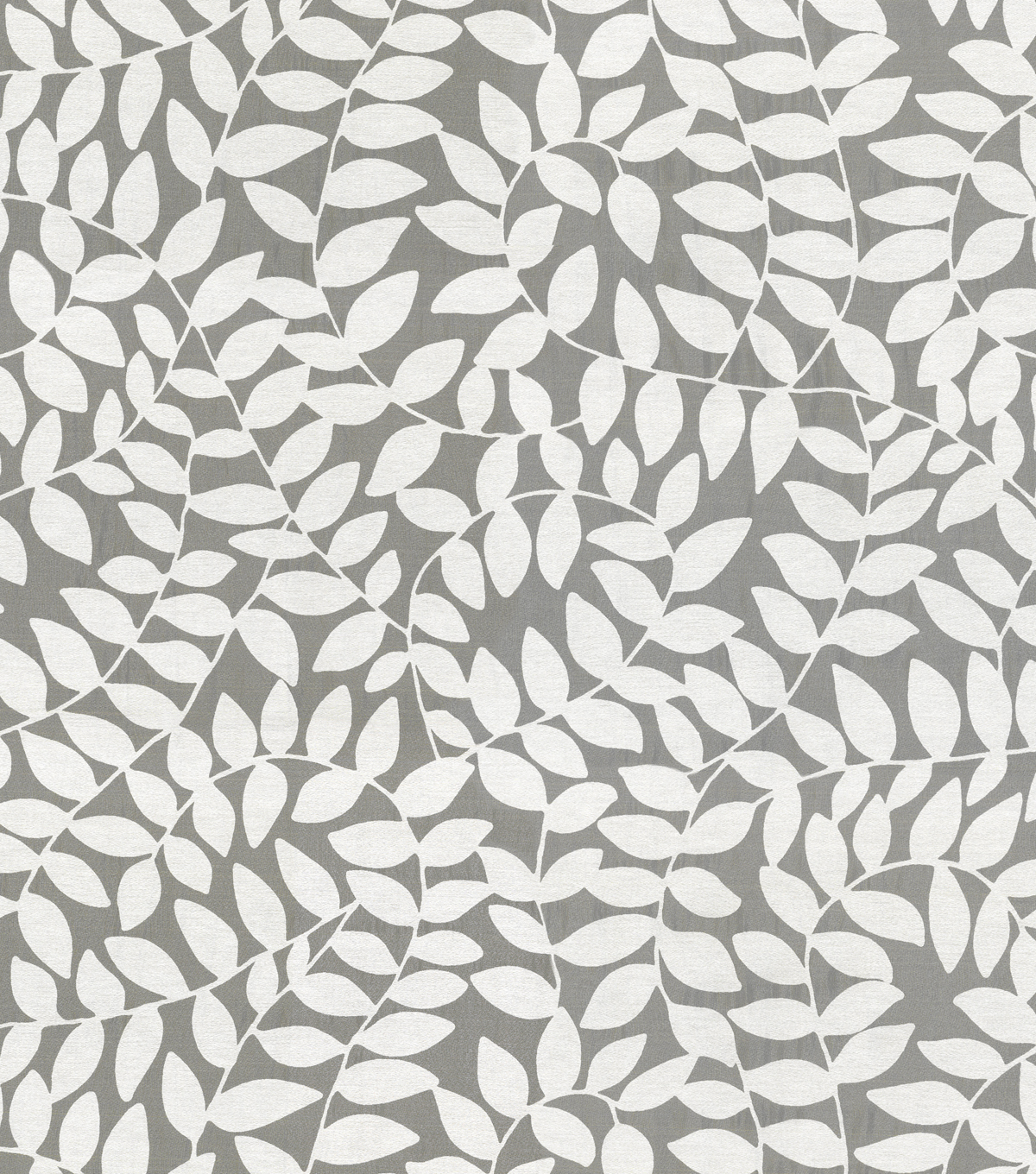 Waverly Sheer Fabric 57\u0022-Be Leaf Me/Snow