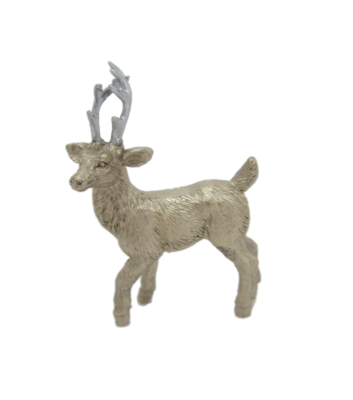 Maker\u0027s Holiday Christmas Littles Resin Deer-Champagne Right