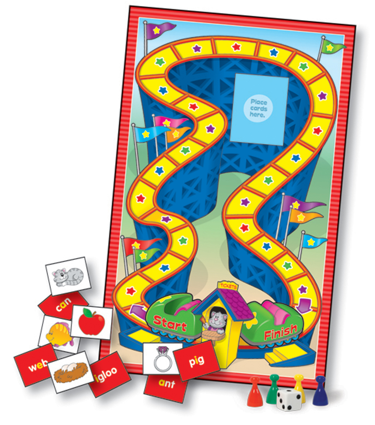 Language Arts Learning Games Board Game- Grade K