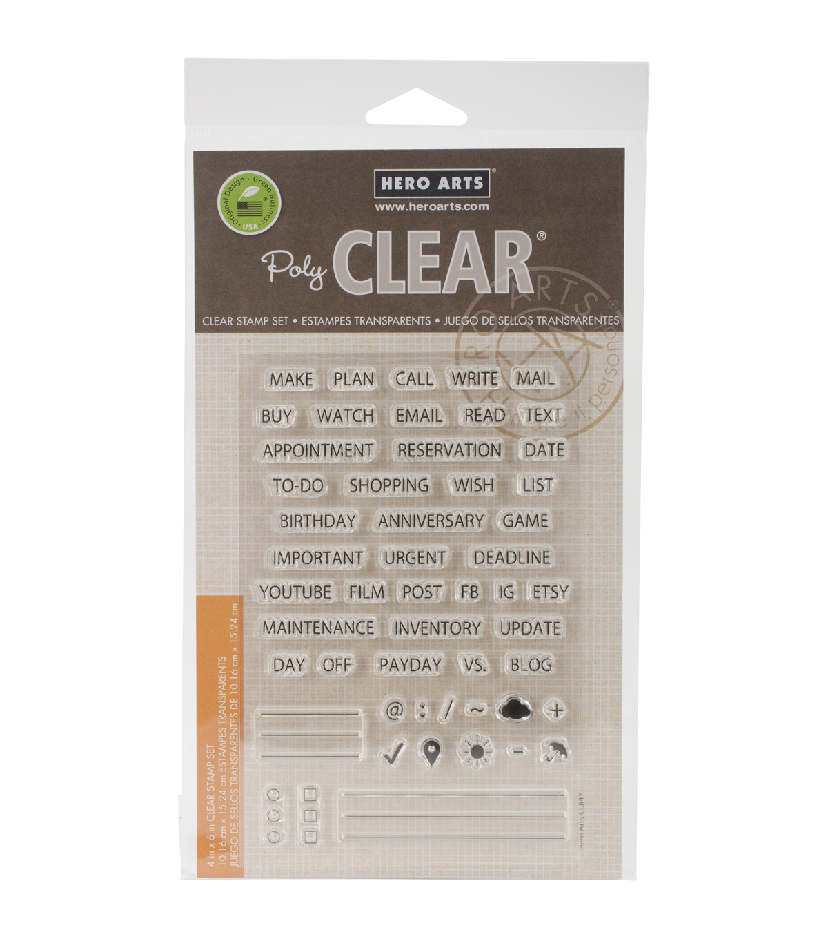 Hero Arts Plan Clear Stamps