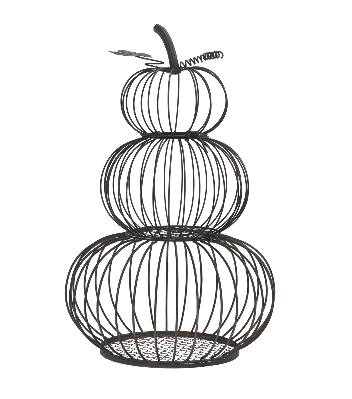 Fall Into Color Stacked Wire Pumpkin Porch Sitter