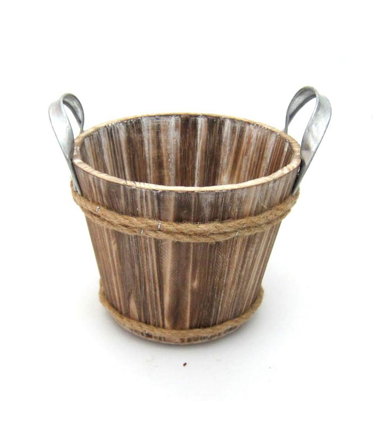 Blooming Autumn Small Wooden Bucket