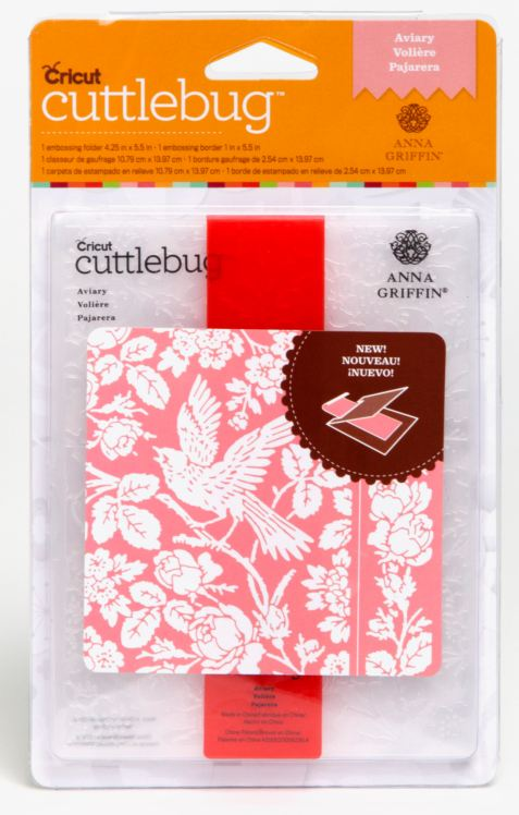 Cuttlebug® A2 Embossing Folder&Border Set-Anna Griffin Aviary