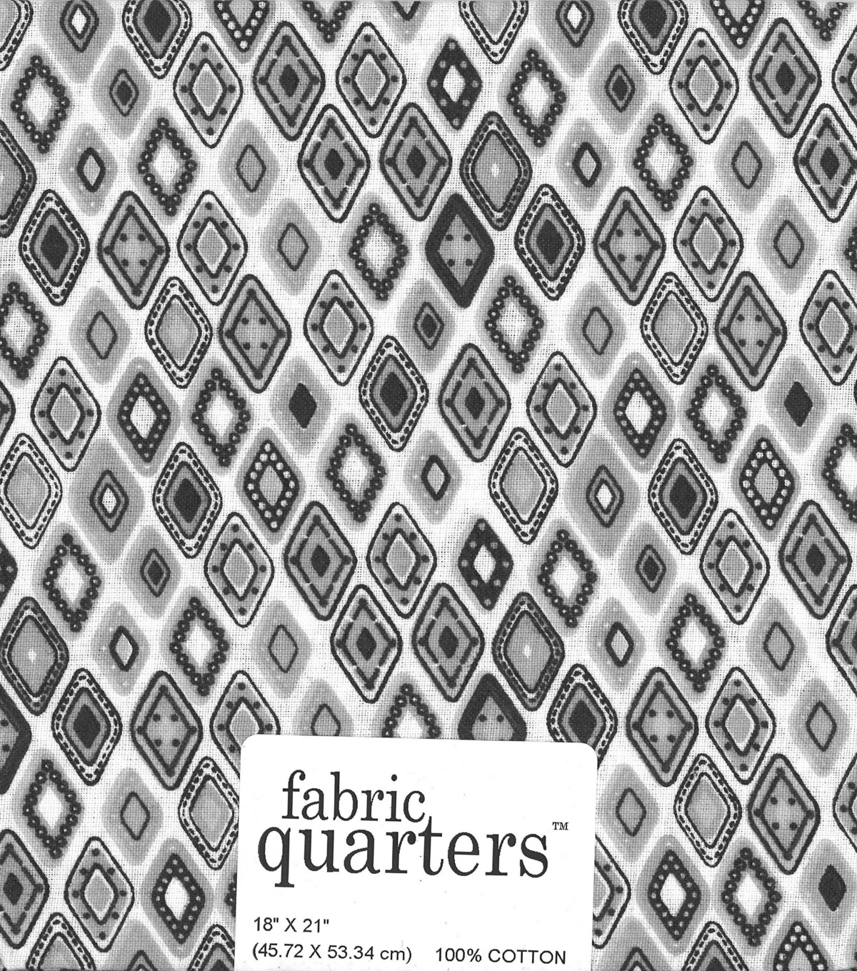 Fabric-Quarters Assorted Fabric-White
