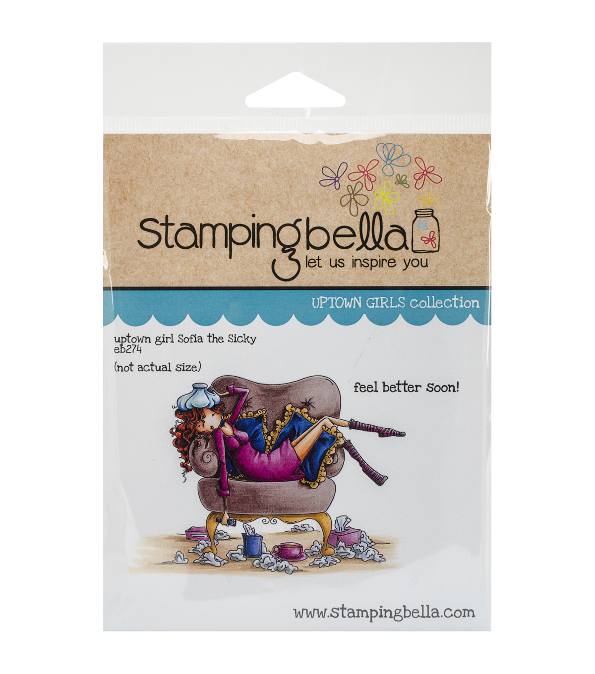 Stamping Bella Uptown Girl Sophia Is A Sicky Cling Rubber Stamp